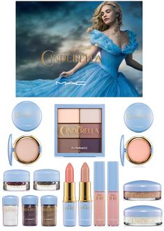 The MAC Cinderella makeup collection inspired by the live action movie! Cinderella Makeup, Mac Cinderella, Disney Makeup, Mac Collection, Makeup Collection, Makeup Brush Case, Makeup Brushes, Skin Makeup, Beauty Makeup