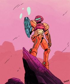 zarpinart:  some metroid fan art. I tried. orz
