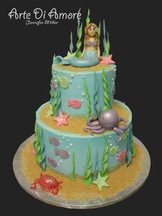 Mermaid cake  - this is awesome! and so cute for a little girl's bday!