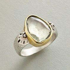 Sterling Silver Green Amethyst Ring                                              | Robert Redford's Sundance Catalog
