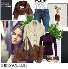 """""""Fall w purple"""" by cjmiles on Polyvore"""