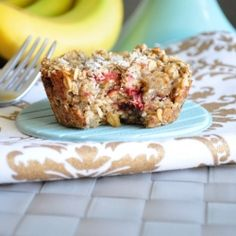 Strawberry Banana Baked Oatmeal by mywholefoodlife