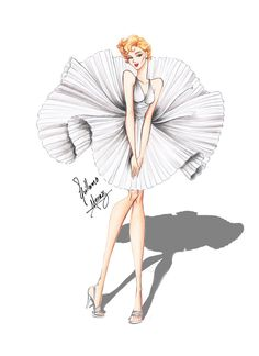 The 7 year itch by frozen-winter-prince on DeviantArt Fashion Drawing Dresses, Fashion Illustration Dresses, Illustration Mode, Fashion Illustration Sketches, Fashion Sketches, Art Sketches, Art Drawings, Images Victoriennes, Arte Fashion
