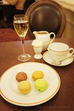 Enjoying afternoon tea at Angelina's, Paris.