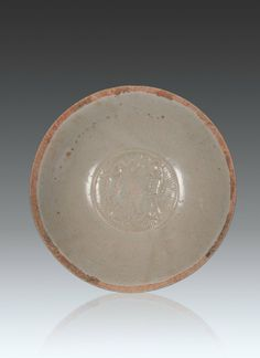 Song Dynasty - A Ying Qing Glaze 'Two Fishes' Bowl D 15.7 cm