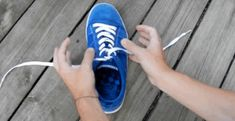 You've Been Tying Your Shoes Wrong Your Whole Life  Learn how to tie your shoes in one second flat. This is a cool way to teach kids how to tie their shoes, but adults can benefit from this time-saving trick, too.
