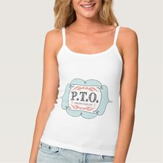 PTO PRETEND TIME OFF SPAGHETTI STRAP TANK TOP Tank Tops