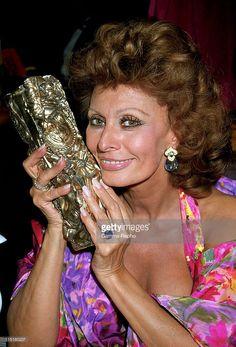 16th 'Cesars' Embargo Parillaud in Paris, France in February, 1991 - Sophia Loren.