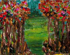 Entrance Trees 1 Painting Print on Wrapped Canvas