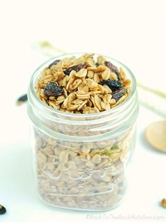 Oatmeal Raisin Cookie Granola (20 minute, gluten free recipe) - Back To The Book Nutrition