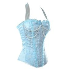 Baby Blue Lingerie Overbust Fashion Corset