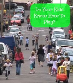 Do your kids know how to play?  Love this conversation about free play.