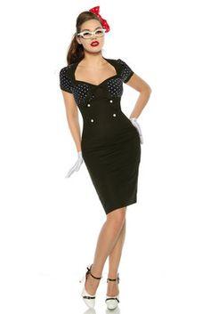 Vintage jurk zwart