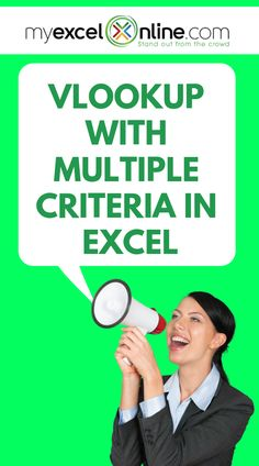 Did you know that you can use the VLOOKUP to match using multiple criteria? Let me show you how through my step by step tutorial from #MyExcelOnline blog | Microsoft Excel Tips   Tutorials | #MSExcel #Excel #ExcelTips #MicrosoftExcel #ExcelforBeginners #WorkSheets #Free
