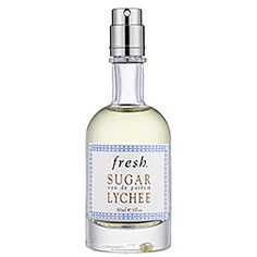 Fresh - Sugar Lychee $38.00 Notes: Grapefruit, Italian Lemon and Lime Blossom, Lychee, Mango Flower, Freesia, Sandalwood, Tonka Bean, Amber. Sugar Lychee Eau de Parfum joins Sugar Eau de Parfum, Sugar Lemon Eau de Parfum, and Sugar Blossom Eau de Parfum. Wear them separately or layer with others to create your signature Sugar scent.