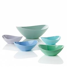 Stelton bowls in a pastell colour scheme - lovely!
