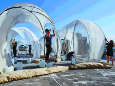 temporary structures, temporary installation, Tel Aviv, Sway, Sack and Reicher + Muller, green materials, greenhouses, green architecture, temporary housing, Israel, green design