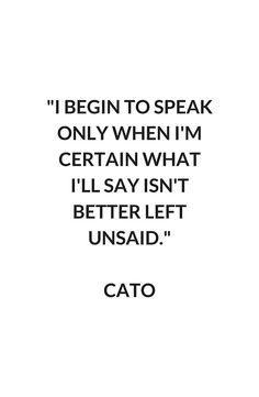 CATO Stoic Philosophy Quote