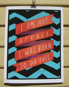 "New Year's Resolution: Joan of Arc Quote, ""I Am Not Afraid"" 8x10 Print. $22.00, via Etsy."