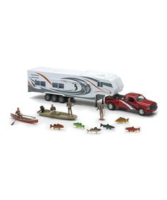 Look what I found on #zulily! Wildlife Hunter Fifth Wheel & Camper Fishing Set by New-Ray Toys #zulilyfinds
