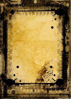 Grunge textured retro style frame by G.P.J. Media on @creativemarket