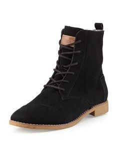 TOMS - Alboot Suede Ankle Boot, Black Suede Ankle Boots, Black Ankle Boots, 51d7ce7387b1