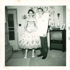Prom- My Grandparents 1950s Prom, Grandparents, Inspirational Quotes, Summer Dresses, Vintage, Fashion, Grandmothers, Life Coach Quotes, Moda
