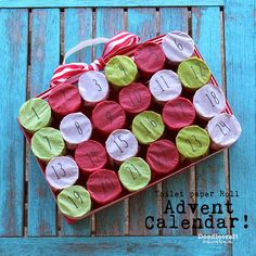 TP Roll Christmas Countdown Advent Calendar!   http://www.doodlecraftblog.com/