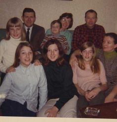 George, Noni, and girls with first cousin Dick, his wife and two children.  December 27, 1969
