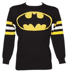 Hombres Negro Ligero Batman Jumper