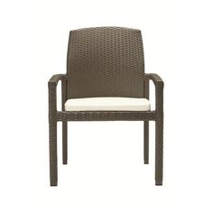 Tropitone Evo Stacking Dining Arm Chair with Cushion Fabric: Bogota, Finish: Shadow