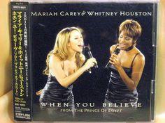 CD/Japan- MARIAH CAREY & WHITNEY HOUSTON When You Believe EP w/OBI RARE 1998