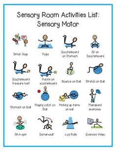 Sensory Motor Activities by Vanessa Ghiringhelli Proprioceptive Activities, Sensory Activities For Autism, Occupational Therapy Activities, Sensory Therapy, Pediatric Occupational Therapy, Sensory Rooms, Gross Motor Activities, Physical Activities, Pediatric Ot