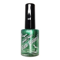 Let your nails shimmer like dew covered leaves with Claw Colours Nail Varnish in Green Envy