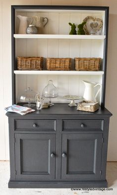 Restyled Vintage: Hamptons Style Buffet and Hutch