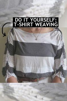 T-shirt weaving