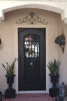 You can count on Iron Doors Arizona for an iron door design that can fit and compliment any entryway. Door Design, House Design, Wrought Iron Doors, Front Entrances, Curb Appeal, Arizona, Count, Entryway, Warm