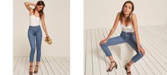 Introducing Reformation Jeans. This is a high rise, stretch jean with a straight leg.