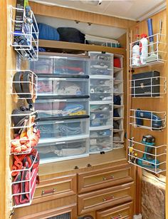 This site has lots of ideas for finding  unused storage space in your trailer!