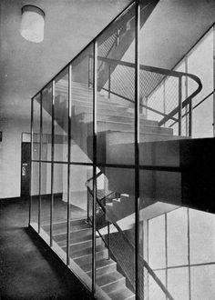 Arosa, Karel Hannauer, Prague, Czechoslovakia 1931 Stair Ladder, International Style, Prague, Stairs, Design Inspiration, Exterior, Ladders, Modernism, Black And White