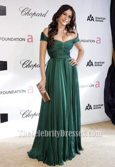 Sofia Vergara Green Evening Dress Oscar Awards 2008 After Party - és az én ruhám :)))