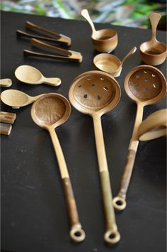 Bamboo soup spoon and ladels