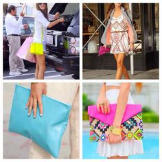 Neon handbags for spring!