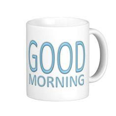 Good Morning mug - baby blue