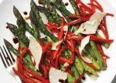 Roasted Asparagus and Red Peppers with Parmesan!!!