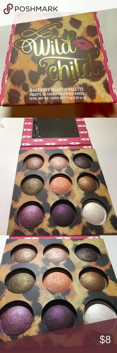 BH costmetics - Wild Child Palette Really great baked eyeshadows from BH Cosmetics. I was torn on letting this go but I just don't reach for it much since it is an all shimmer palette. bh Cosmetics Makeup Eyeshadow