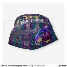 Choose your Planet grey purple teal SpaceX covid19 Cloth Face Mask Mouth Mask Fashion, Galaxy Space, Purple Teal, Shape Of You, Uk Fashion, Mask For Kids, Planets, Sunglasses Case, Gifts For Her