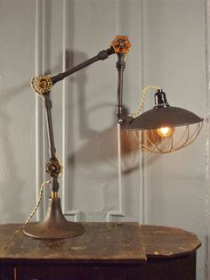Antique Fostoria Machine Age Task Light $385