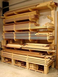 Dans Woodshop Timber Storage #woodworkingbench