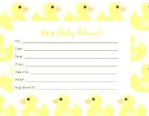 "Invitation~Duck theme. Free printable, use 8 1/2"" x 11"" cardstock, for best results. (Not a fill-able form) Click pdf link: http://www.rustybumperworld.com/files/duck.pdf"